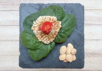 espinacas con hummus
