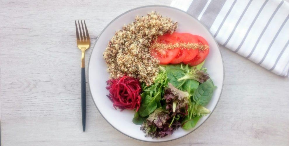 plato combinado con quinoa