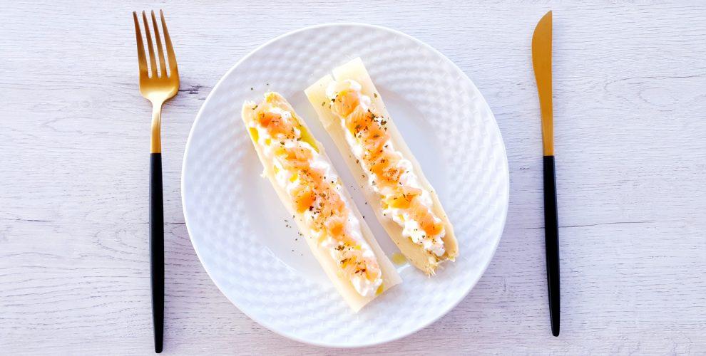 salmón con queso